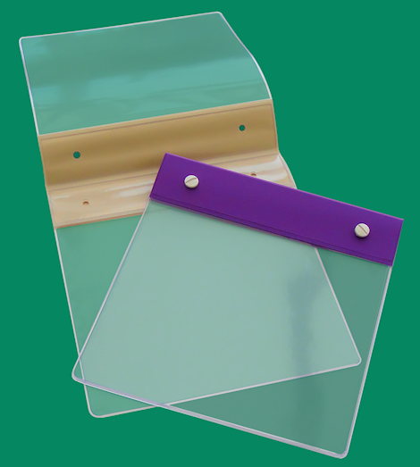 PVC Header folder for holding Fabric Samples & swatches